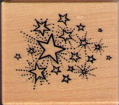 Stars Rubber Stamp