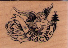 PSX Peace Angel Rubber Stamp