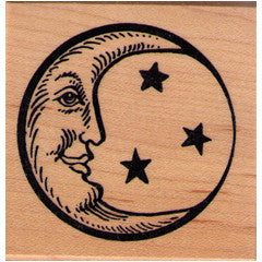 Crecent Moon Rubber Stamp