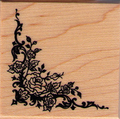PSX Baroque Rose Corner Rubber Stamp
