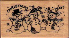PSX Christmas on it's way Rubber Stamp