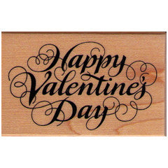 Happy Valentines Day  Rubber Stamp