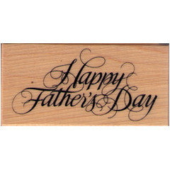 Happy Fathers Day  Rubber Stamp