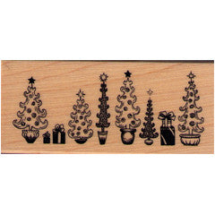 Christmas Topiary  Rubber Stamp