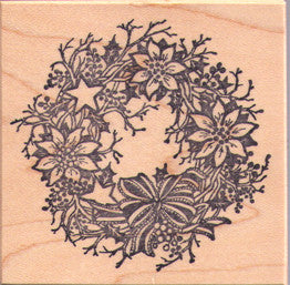 PSX Christmas Bough Wreath Rubber Stamp