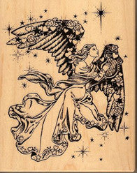 PSX Angel Rubber Stamp