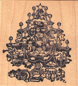 PSX Christmas Tree Rubber Stamp