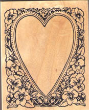 PSX Heart Frame Rubber Stamp