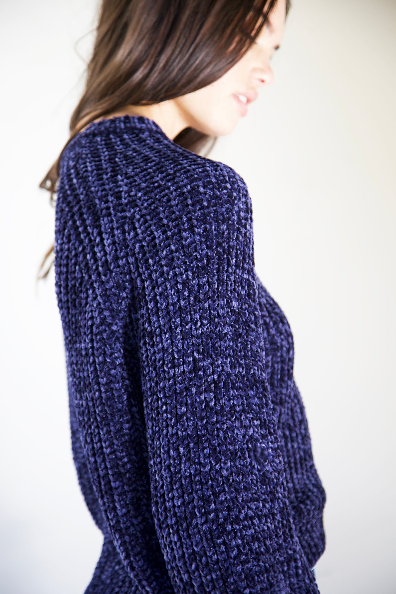 Chenille Crewneck Sweater