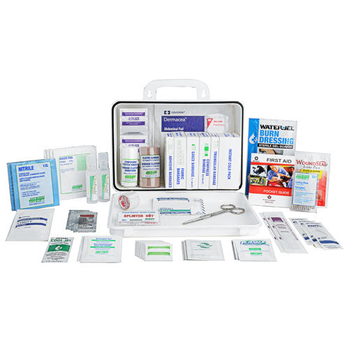 Contractors' First Aid Kit, 16 Unit, Plastic Box w/Gasket