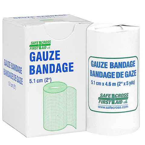 Gauze Bandage Roll, 5.1 cm x 4.6 m, 1/Unit Box