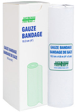 Gauze Bandage Roll, 10.2 cm x 4.6 m, 1/Unit Box