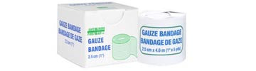 Gauze Bandage Roll, 2.5 cm x 4.6 m, 1/Unit Box