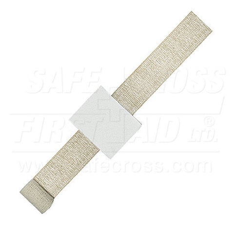 Compress Bandage with Rubber Elastic Tail - Sterile
