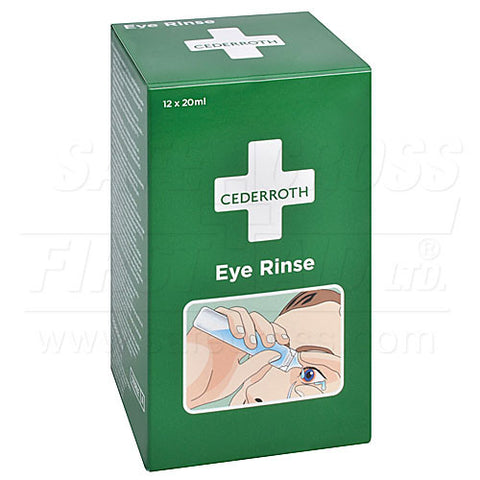 Cederroth, Eye Rinse Refill For Item 01206, 12 x 20 mL