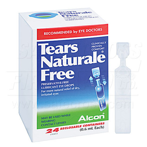 Tears Naturale Free, 0.6 mL, 24/Box