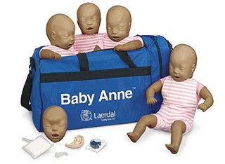 Baby Anne CPR Manikin - 4-pack - Brown Skin