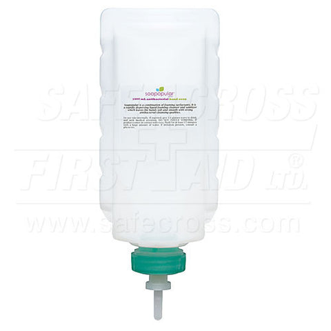 Soapopular, Antibacterial Refill Cartridge, 1 L For Item 06198