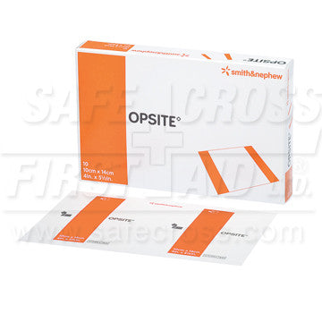 Opsite, Transparent Adhesive Film, 10.2 x 14 cm, 10/Box