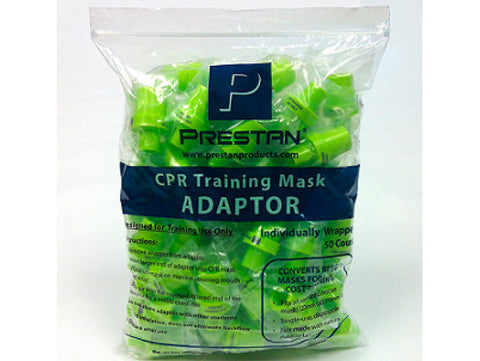 Prestan CPR Training Mask Adaptors - 50 Count bag