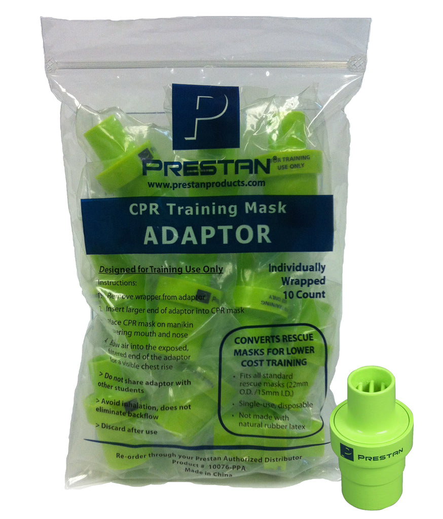 Prestan CPR Training Mask Adaptors - 10 Count Bag