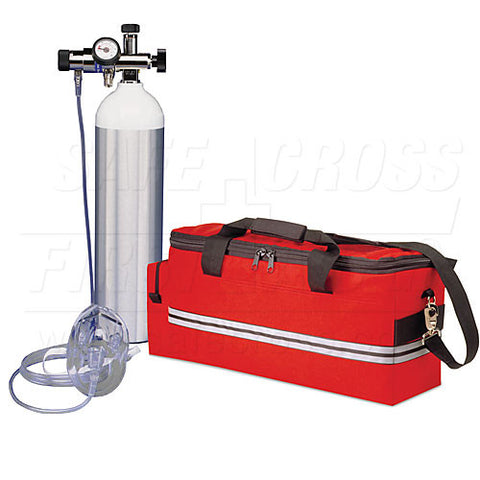 "Oxygen Kit with Adjustable Flow Regulator & ""Jumbo-D"" (640 L)"