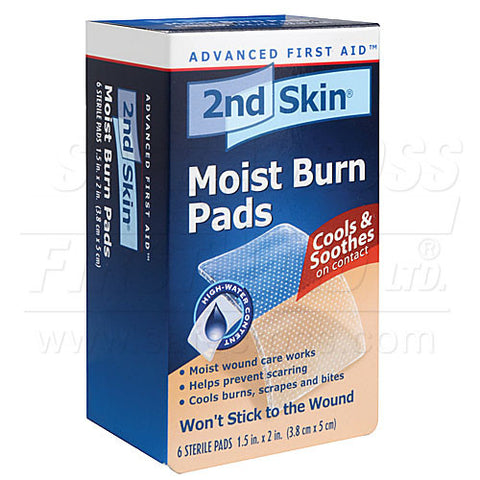 Second Skin, Moist Burn Pads, Small, 3.8 x 5.1 cm, 6/Box