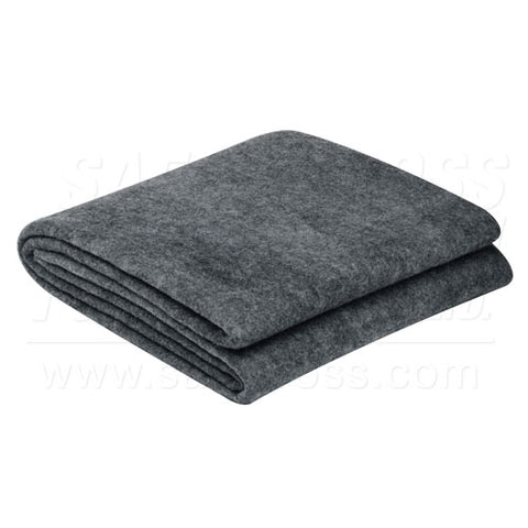 Blanket, 30% Wool, Grey, 152.4 x 213.4 cm