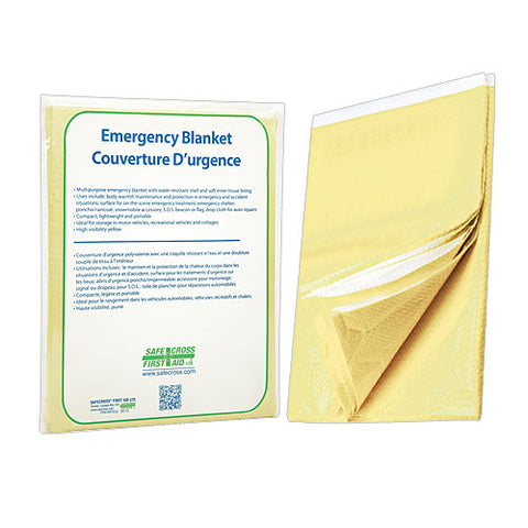 Blanket, Emergency, Tissue/Poly. Yellow, 142.2 x 228.6 cm