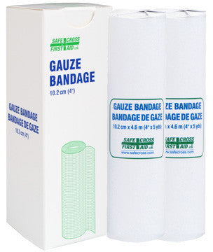 Gauze Bandage Roll, 10.2 cm x 4.6 m, 2/Unit Box
