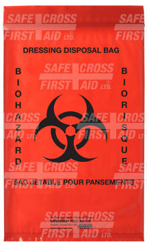 Infectious Waste Bags, 15.2 x 22.9 cm, 100/Package