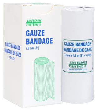 Gauze Bandage Roll, 7.6 cm x 4.6 m, 1/Unit Box
