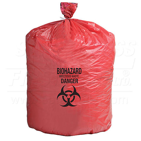 Infectious Waste Bags, 61 x 84 cm 60.6 L, 250/Case