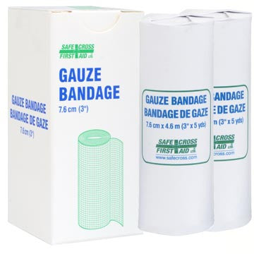 Gauze Bandage Roll, 7.6 cm x 4.6 m, 2/Unit Box
