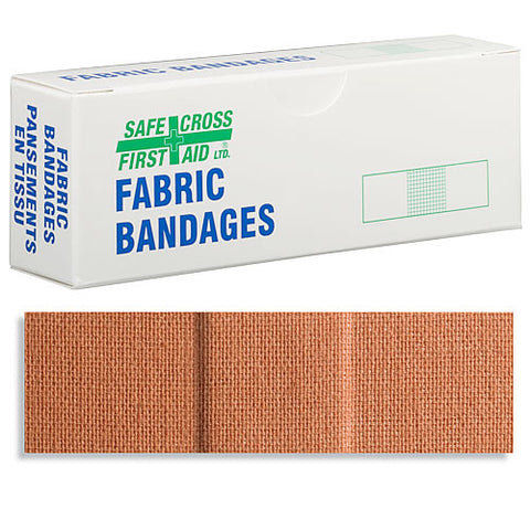 Fabric Bandages, 2.2 x 7.6 cm, Heavyweight, 12/Unit Box