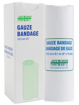 Gauze Bandage Roll, 10.2 cm x 9.1 m, 1/Unit Box