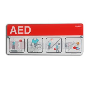 AED Awareness Placard, Red