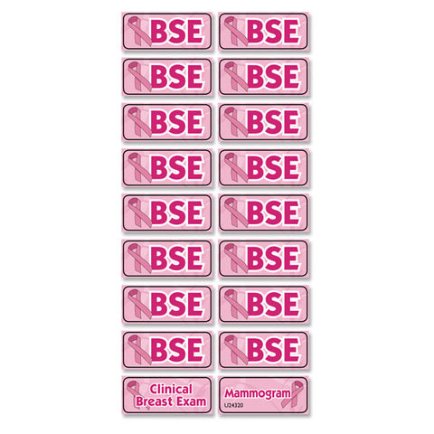 Breast Exam Reminder Stickers