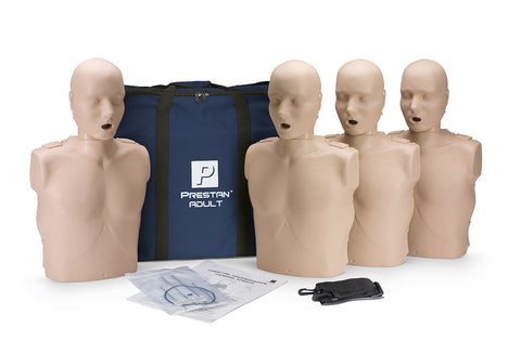 Prestan Adult Manikin 4 Pack - No Monitor - Medium Skin Tone