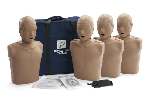 Prestan Child Manikin 4 Pack - No Monitor - Dark Skin Tone