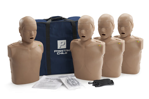Prestan Child Manikin 4 Pack with Monitor - Dark Skin Tone
