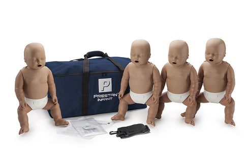 Prestan Infant Manikin 4 Pack - No Monitor - Dark Skin Tone