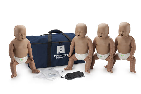 Prestan Infant Manikin 4 Pack with Monitor - Dark Skin Tone