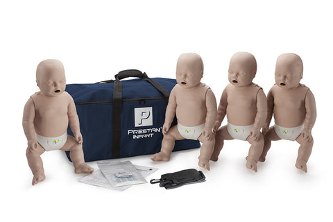 Prestan Infant Manikin 4 Pack with Monitor - Medium Skin Tone
