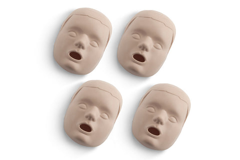 Prestan Child Manikin Face Skin Replacements - 4 Pack - Medium Skin Tone