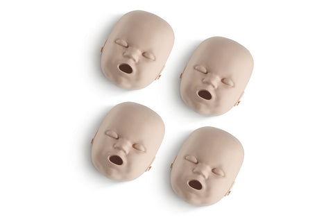Prestan Infant Manikin Face Skin Replacements - 4 Pack - Medium Skin Tone