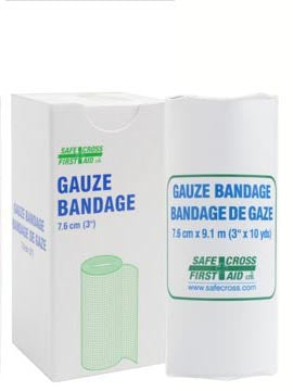 Gauze Bandage Roll, 7.6 cm x 9.1 m, 1/Unit Box