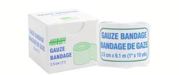 Gauze Bandage Roll, 2.5 cm x 9.1 m, 1/Unit Box