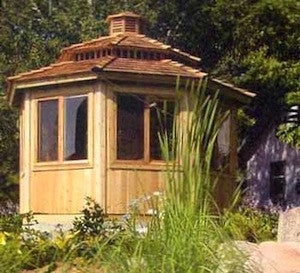 twelve foot all season gazebo with optional two tier roof and cupola