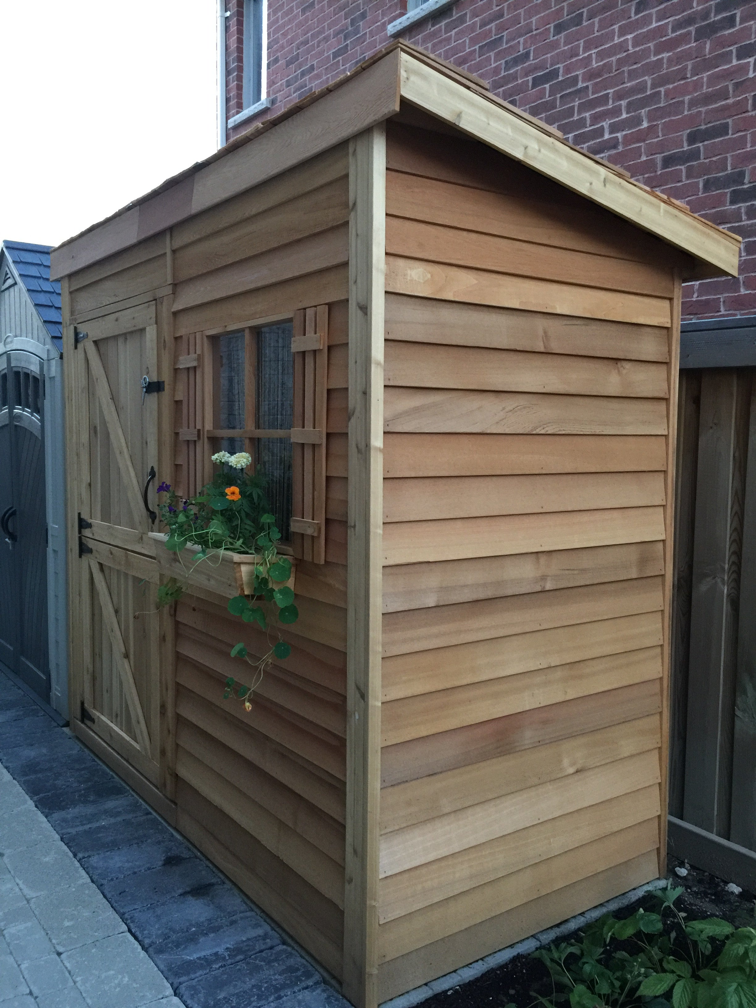 wooden outdoor pdx w ft garden yardcraft x d reviews storage fairmont shed
